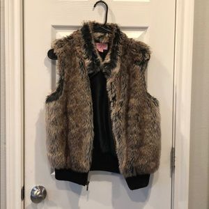 Copper Key Jackets & Coats - Brown Fur Vest
